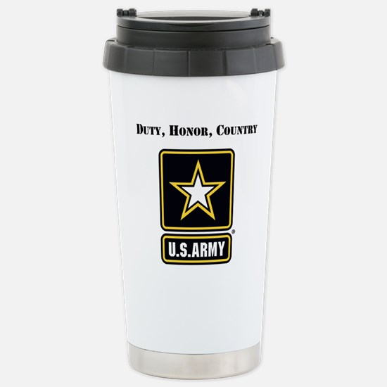Duty Honor Country Army Travel Mug