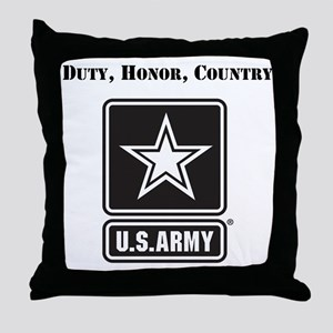 Duty Honor Country Army Throw Pillow