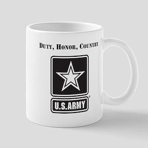 Duty Honor Country Army Mugs