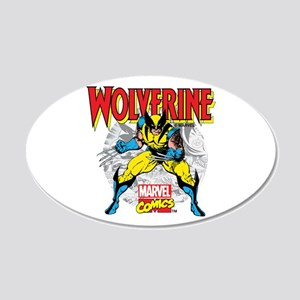 Wolverine Attack 20x12 Oval Wall Decal