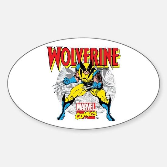 Wolverine Attack Sticker (Oval)