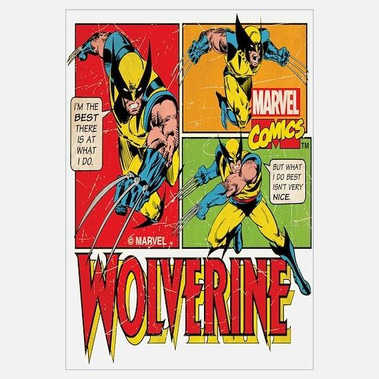 Wolverine Comic Wall Art