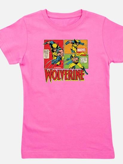 Wolverine Comic Girl's Tee
