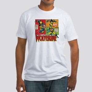 Wolverine Comic Fitted T-Shirt