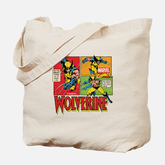 Wolverine Comic Tote Bag