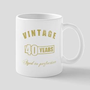 Vintage 40th Birthday Mug