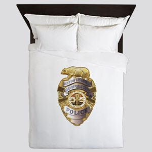 Los Angeles County Safety Police Queen Duvet