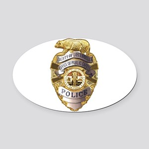Los Angeles County Safety Police Oval Car Magnet
