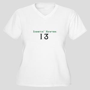 Shootin Newton 13 Plus Size T-Shirt