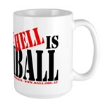 What the HELL is broomball Large Mug