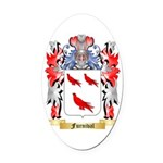 Furnival Oval Car Magnet
