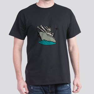 World War Two Battleship Cartoon T-Shirt