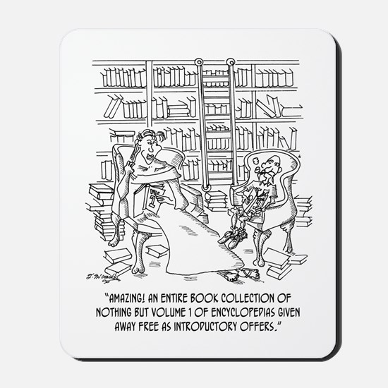 Hundreds of Volume 1 Encyclopedias Mousepad