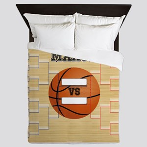 March Basketball Bracket Madness Chart Queen Duvet