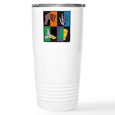joints, square multicolor Travel Mug