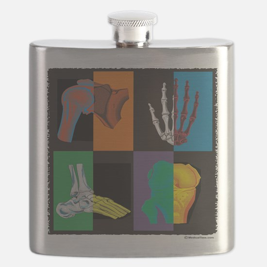 joints, square multicolor Flask