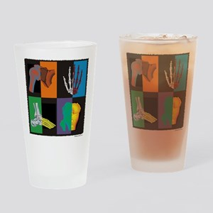 joints, square multicolor Drinking Glass