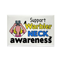 Support Warbler Neck Awareness Rectangle Magnet