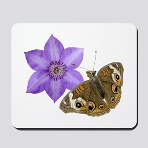 Squirrel Butterfly Flower Mousepad