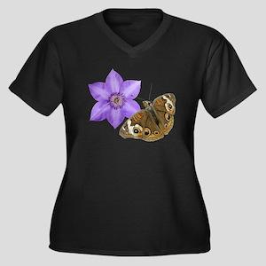 Squirrel But Women's Plus Size V-Neck Dark T-Shirt