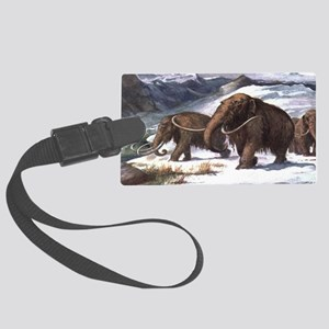 Wooly Mammoth Large Luggage Tag