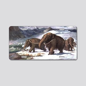Wooly Mammoth Aluminum License Plate