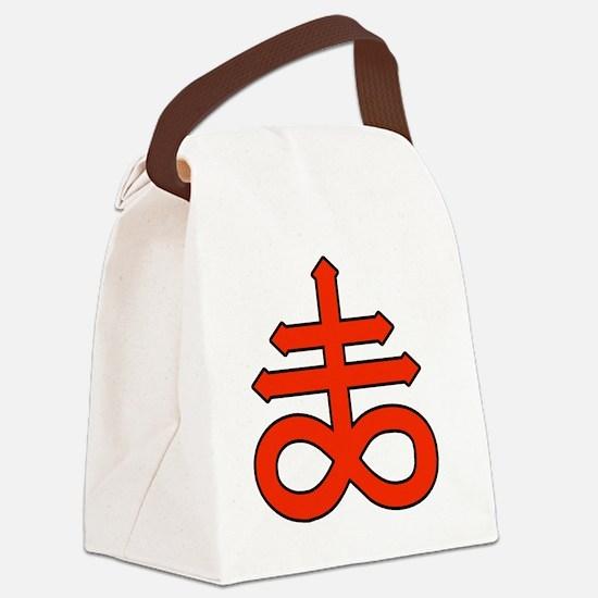 The Satanic Cross Canvas Lunch Bag
