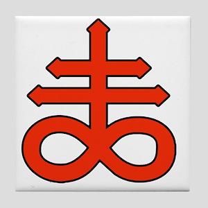 The Satanic Cross Tile Coaster