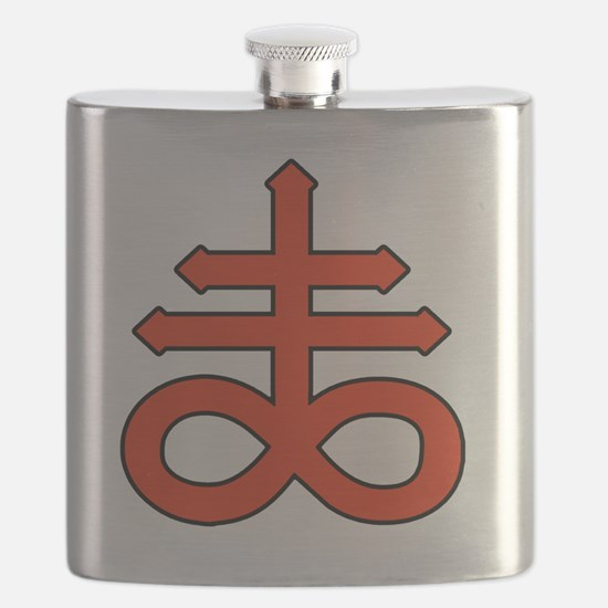The Satanic Cross Flask