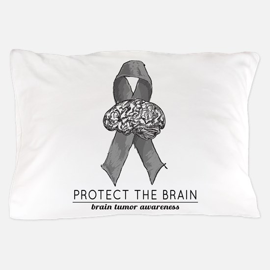Protect The Brain Pillow Case