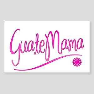 GuateMama Text Rectangle Sticker