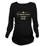 Corrections Officer Long Sleeve Maternity T-Shirt