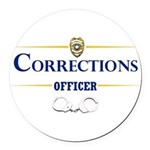Corrections Officer Round Car Magnet