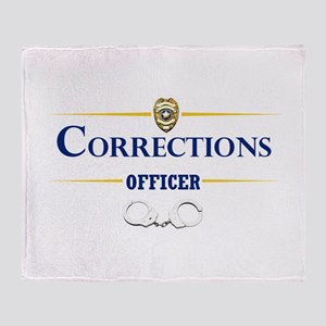 Corrections Officer Throw Blanket