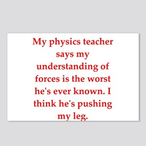 physics joke Postcards (Package of 8)