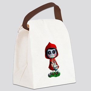 Spooky Red Riding Hood Canvas Lunch Bag