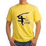 I Am Zombie Yellow T-Shirt