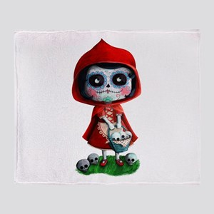 Spooky Red Riding Hood Throw Blanket