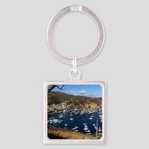 Catalina  Mountain View Square Keychain