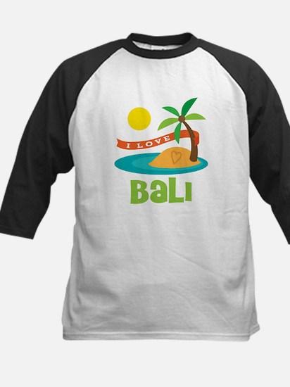 I Love Bali Kids Baseball Jersey