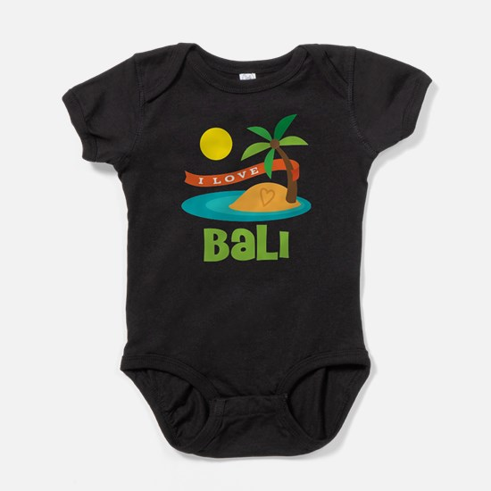 I Love Bali Baby Bodysuit