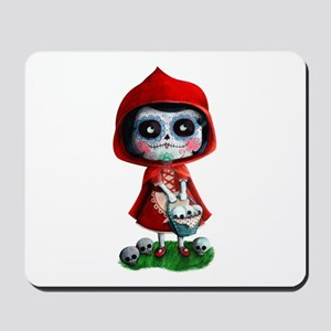 Spooky Red Riding Hood Mousepad