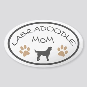 Labradoodle Mom Oval Sticker