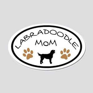Labradoodle Mom Oval Wall Decal