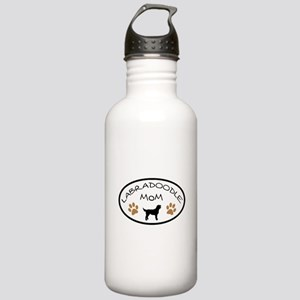 Labradoodle Mom Oval Water Bottle