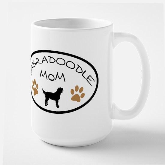 Labradoodle Mom Oval Mugs