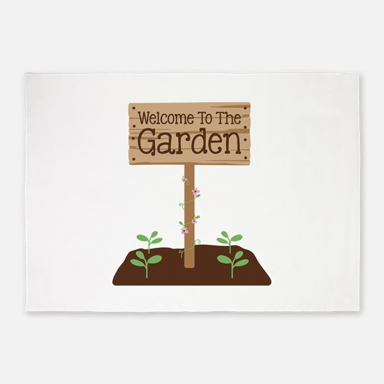 Welcome to the Garden 5'x7'Area Rug