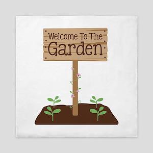 Welcome to the Garden Queen Duvet