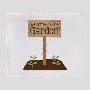 Welcome to the Garden Throw Blanket