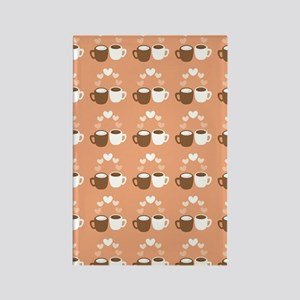 Coffee cups love pattern Rectangle Magnet
